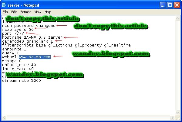 Как сделать сервер samp 037