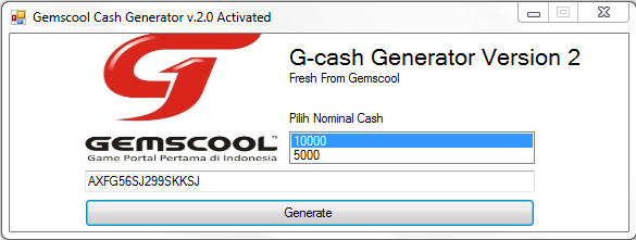 download password gemscool cash generator